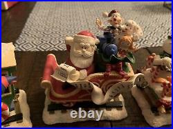 RARE Danbury Mint Hawthorne Rudolph Christmastown Village Train Set