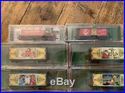 RARE Micro-Trains N scale Vintage Christmas Post Card Series Complete Set RARE