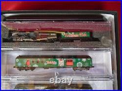 RARE N SCALE MTL REINDEER BELT CHRISTMAS TRAIN SET With 4-6-2 STEAM LOCOMOTIVE