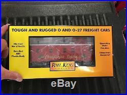 Rail King MTH Electric Train- O Gauge 4-6-0 Christmas Freight Set