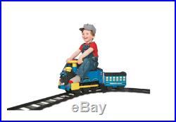 Ride On Train Set Track Toddler Along Battery Power Wheel Steam Engine Christmas