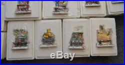 Simpsons Christmas Express Train Complete Set of 40 Hamilton Collection