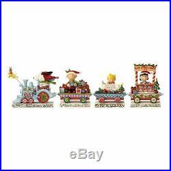 Snoopy Christmas Figurine Peanuts Jim Shore Train Set Plus Linus Sally 5 Piece