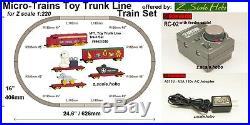 Starter Set Z Scale Christmas Train Set Track NEW $0 SHIP Rokuhan Micro Trains