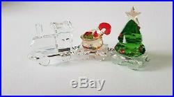 Swarovski, Christmas Train Set, Santa's Gift Wagon, Tree Wagon, and Locomotive