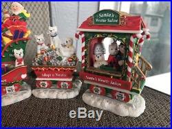 The Danbury Mint Westie Christmas Express Train Set Of 6 Complete