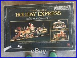 The HOLIDAY EXPRESS Animated Train Set Christmas NEW BRIGHT 1996 Beautiful