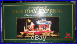 The HOLIDAY EXPRESS New Animated Christmas Train Set #380 1996 G Scale