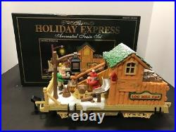 The Holiday Express Animated Train Set +Extra Tracks & 3 Extra Sections