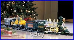 Traditional Christmas Tree Train Set Battery Operated With Sounds Lights Smoke