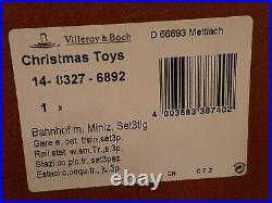 Train Bahnhof set14-8327-6892 NEW Xmas Villeroy & Boch Toy's Village -65%OFF OVP