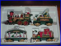 Used New Bright Holiday Express Christmas Animated Train Set / #380 G Scale