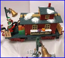 VTG New Bright The Holiday Express Animated Train Set No 387 Santa Xmas Electric