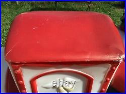 Vintage Empire Santa train and toy tender car christmas blow mold set