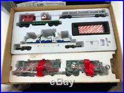 Vintage K-line Santa's Christmas Parade Train Set Die Cast Smoking Engine