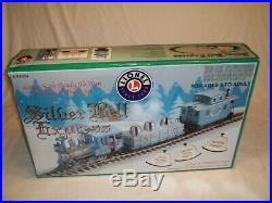 Vtg 2003 LIONEL SILVER STAR EXPRESS G SCALE CHRISTMAS TRAIN SET IN BOX 8-81024